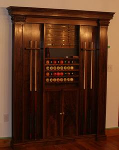 Custom Cue Rack Cabinet
