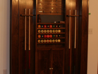 American President Table Solid Walnut Custom Cue Rack