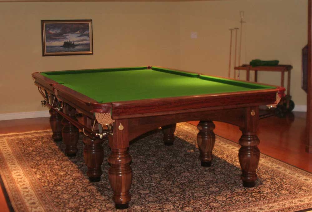 Tschirhart's Custom Billiards 5x10 World Championship Snooker Table