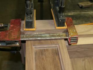 Solid Walnut Cue Rack Construction