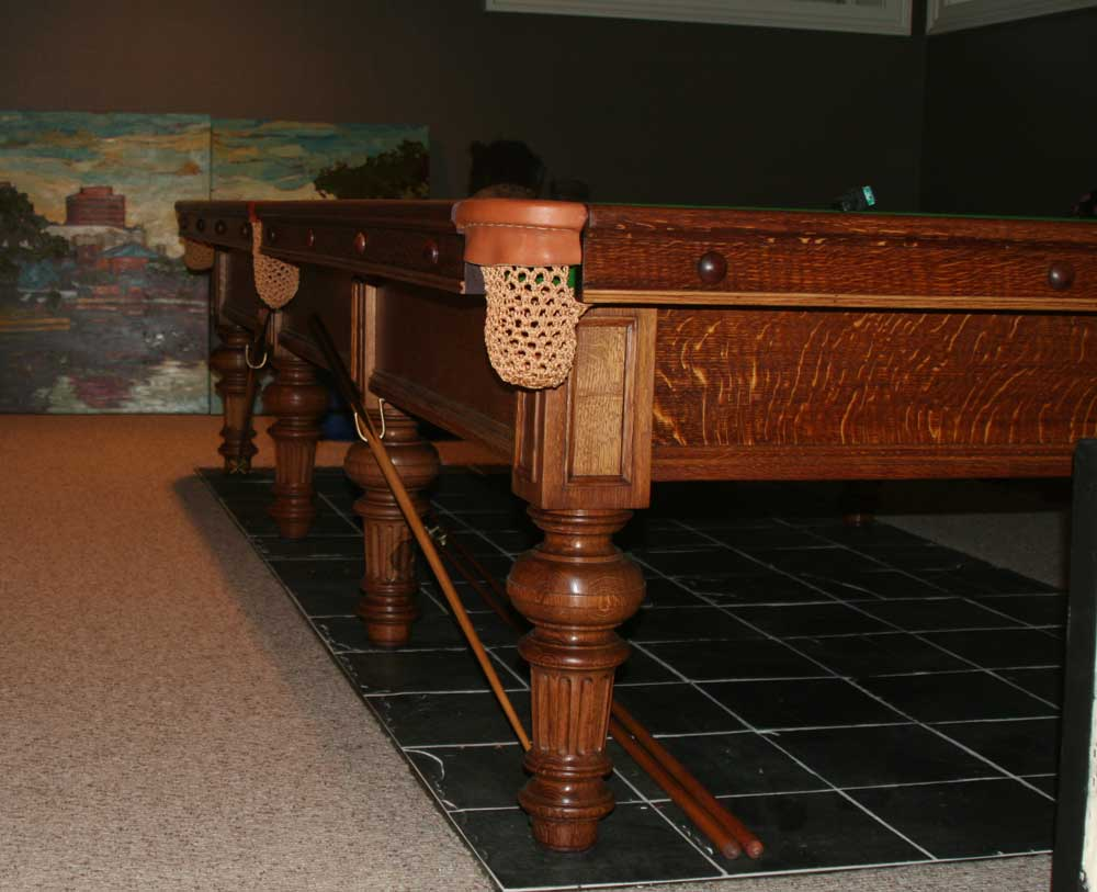 Burroughes & Watts Pool Table Finished