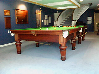 Restored Burroughes & Watts 6x12 World Championship Snooker Table