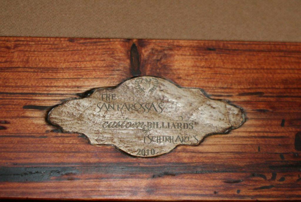 Moose Antler Nameplate On Rustic Table