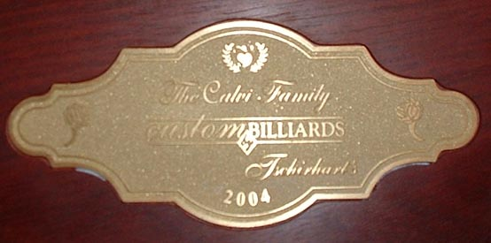 Solid Brass Nameplate