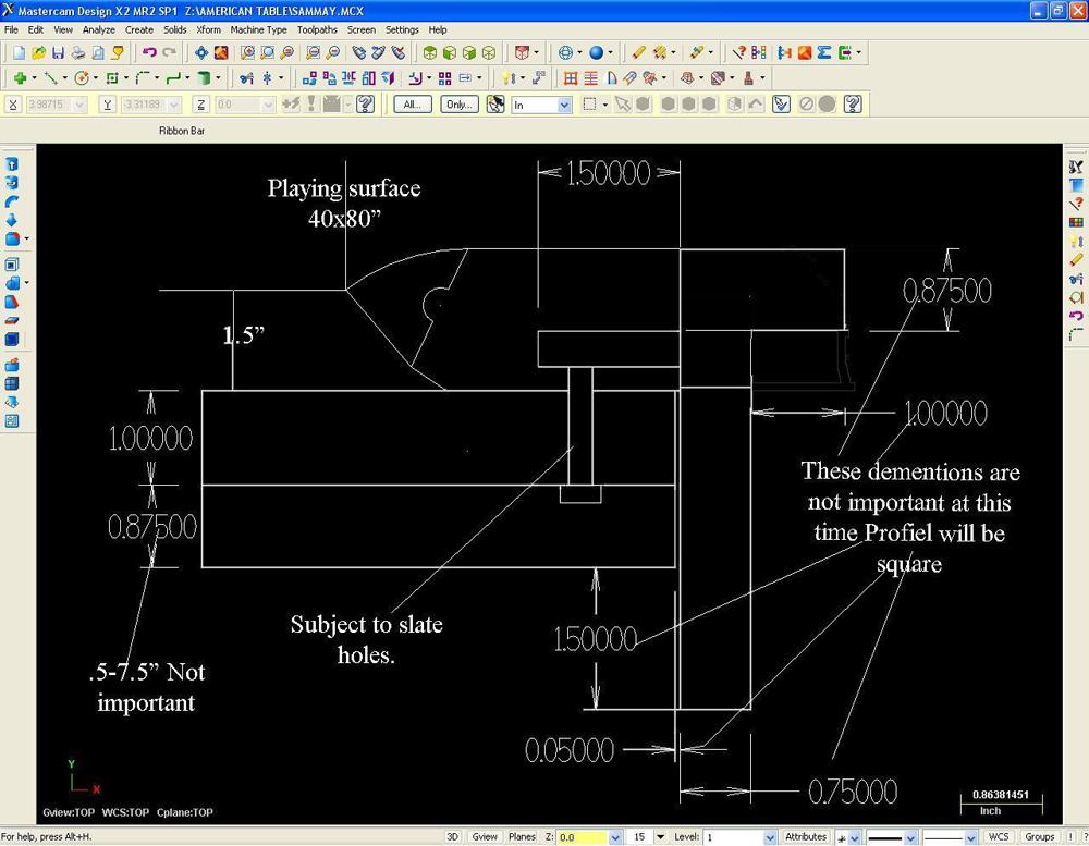 Arts & Crafts 3D CAD Drawing