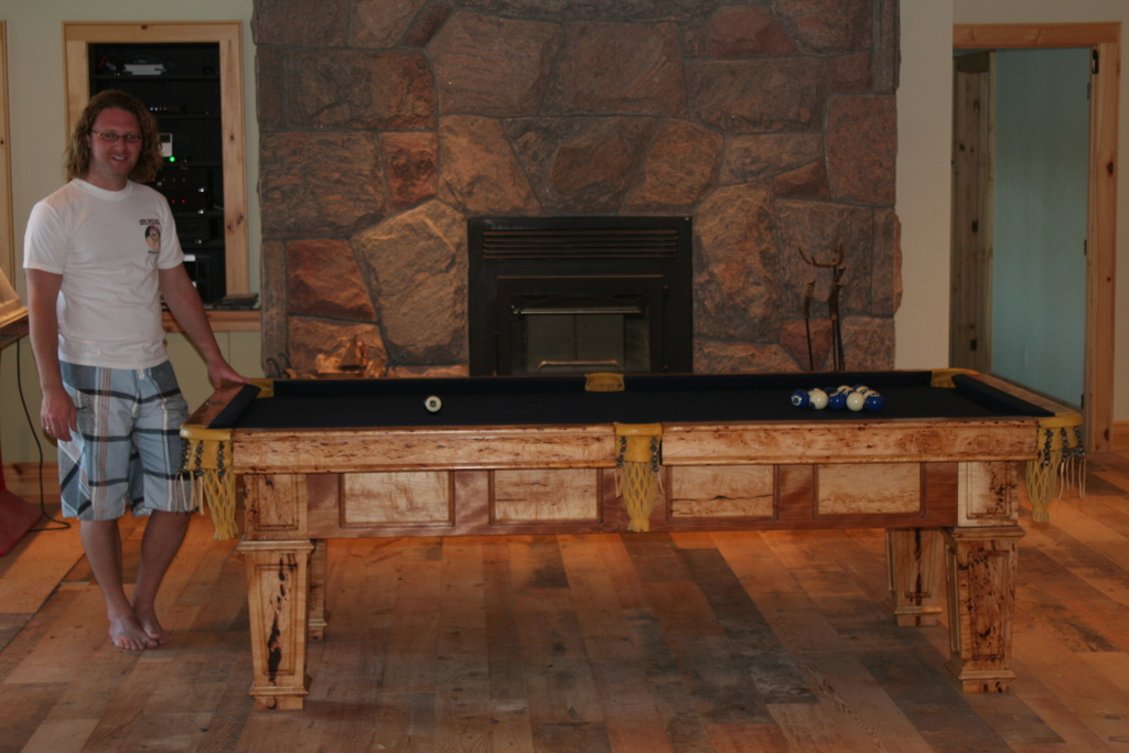 Rustic Style Custom Pool Table