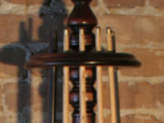 Solid Walnut Round Cue Rack Top Detail