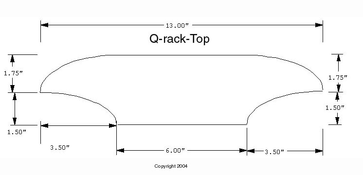 3D CAD Drawing for Custom Cue Rack