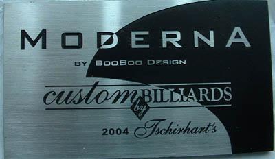 Contemporary Nameplate